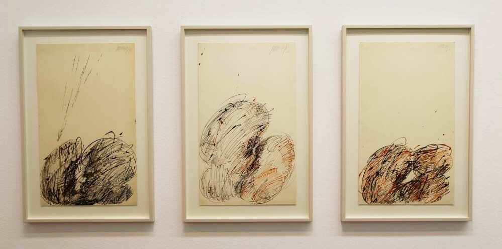 Markus Prachensky, Los Angeles, 1968, Tusche auf Papier (Privatbesitz, Foto: Alexandra Matzner)