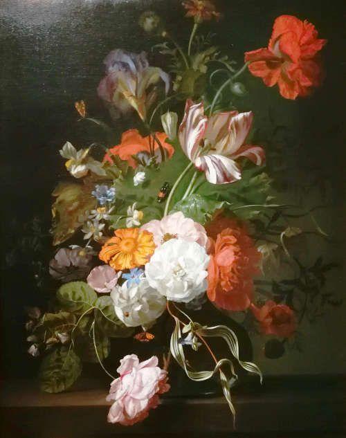 Rachel Ruysch, Blumenstück, um 1700, Öl/Lw (Gemäldegalerie der Akademie der bildenden Künste, Wien, Legat von Graf Lamberg-Sprinzenstein, Wien 1822), Foto: Alexandra Matzner, ARTinWORDS.