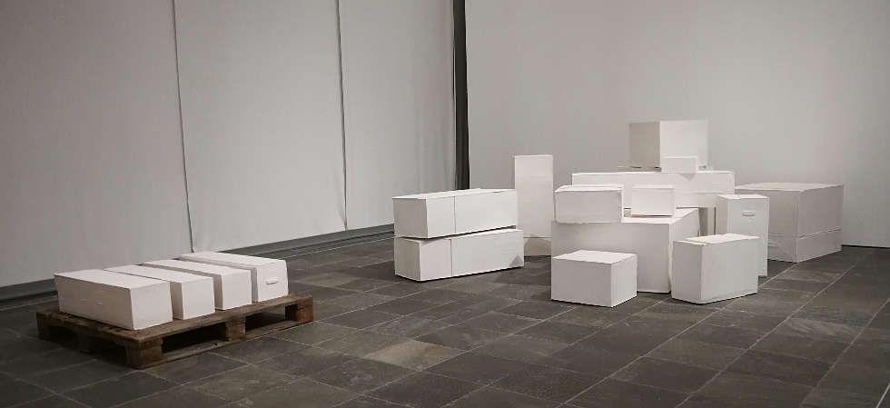 Rachel Whiteread, Contents, 2005, Installationsfoto im Belvedere 21: Alexandra Matzner, ARTinWORDS