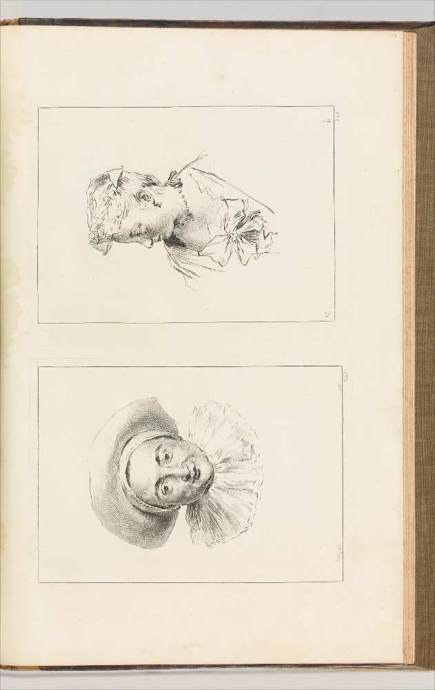 Figures de Differents caracteres, de Paysages . . .Volume II, Paris 1728, S. 323–324, Radierung, 51.5 x 36 x 5.5 cm, nach Zeichnungen von Antoine Watteau (New York, The Metropolitan Museum, Harris Brisbane Dick Fund, 1928)