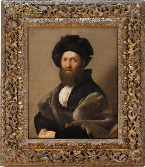 Raffael, Baldassarre Castiglione, 1513, Öl/Lw (Paris, Musée du Louvre, Département des Peintures © Musée du Louvre, Dist. RMN - Grand Palais / Angèle Dequier)
