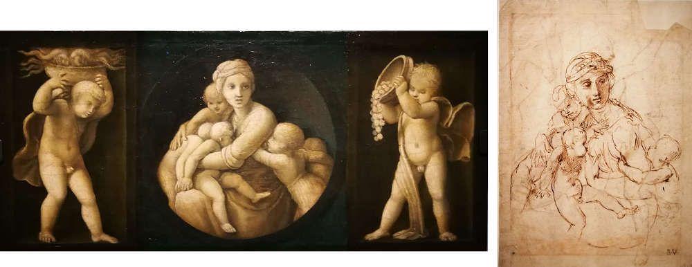 Raffael, Caritas (Musei Vaticani, Vatikan) & Caritas (Albertina)