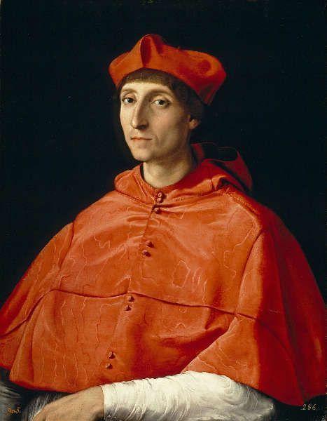 Raffael, Der Kardinal, um 1510, Öl/Lw, 79 x 61 cm (Madrid, Museo Nacional del Prado)