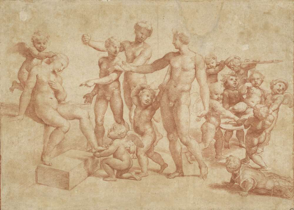Raffael, Die Hochzeit von Alexander und Roxane, um 1517 (© Albertina, Wien)