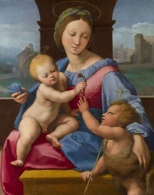 Raffael, Madonna mit dem Kind und Johannesknaben (Madonna Garvagh, auch: Madonna Aldobrandini), 1511 (The National Gallery, London)