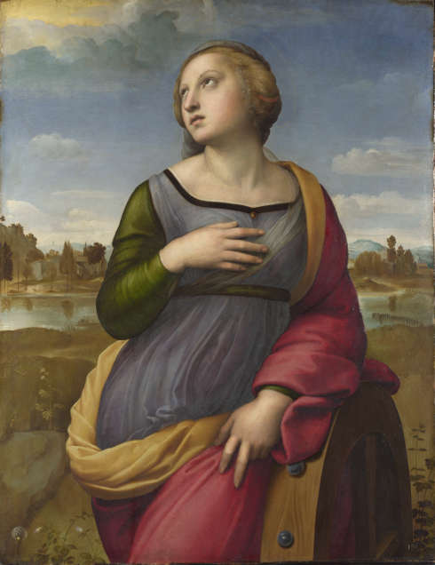 Raffael, Heilige Katharina von Alexandria, um 1507, Öl auf Pappel, 72.2 x 55.7 cm (© The National Gallery, London)