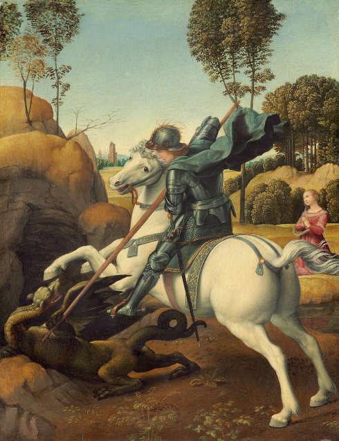 Raffael, Hl. Georg und der Drache, um 1506