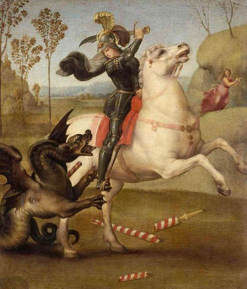 Raffael, Hl. Georg, 1505 (Musée du Louvre, Paris: © RMN-Grand Palais / Jean-Gilles Berizzi)