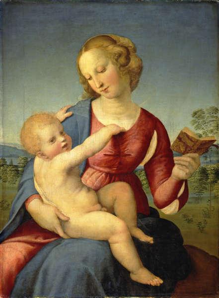 Raffael, Maria mit dem Kind (Madonna Colonna), um 1508, Öl auf Pappelholz, 79 x 58,2 cm (© Staatliche Museen zu Berlin, Gemäldegalerie / Jörg P. Anders)
