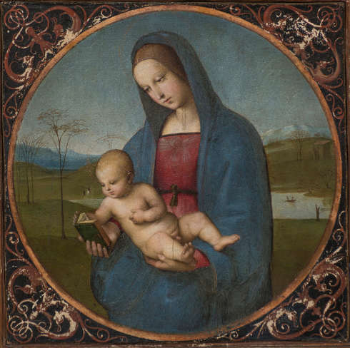 Raffael, Madonna Conestabile, Öl/Holz, 17,5 x 18 cm (Eremitage, St. Petersburg)