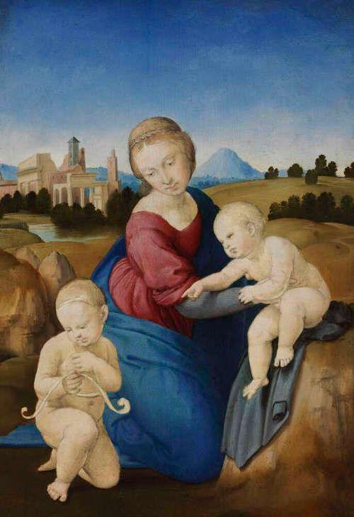 Raffael, Madonna mit Kind und hl. Johannes (Madonna Esterhazy), 1508 (Budapest: © Szépművészeti Múzeum / Museum of Fine Arts Budapest, 2017, Csanád Szesztay)