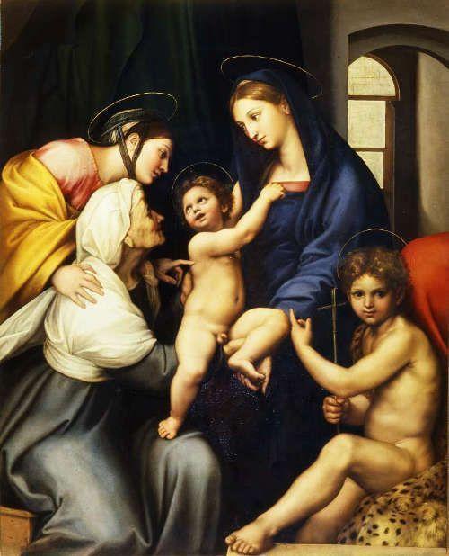 Raffael, Madonna dell'Impannata, 1511 (Galleria Palatina, Palazzo Pitti, Uffizi, Florenz: Gabinetto Fotografico delle Gallerie degli Uffizi)