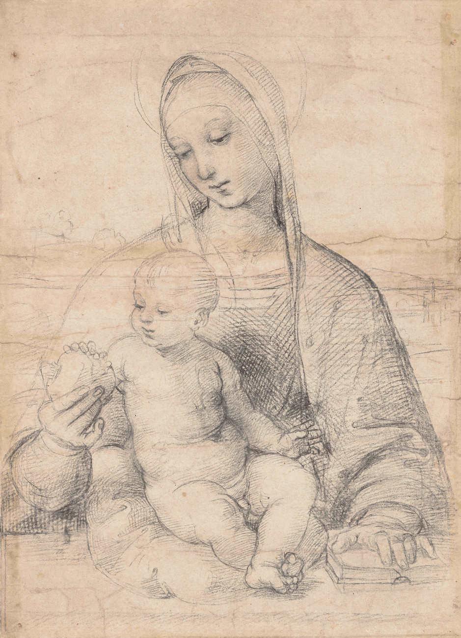 Raffael, Die Madonna mit dem Granatapfel, um 1504 (© Albertina, Wien)