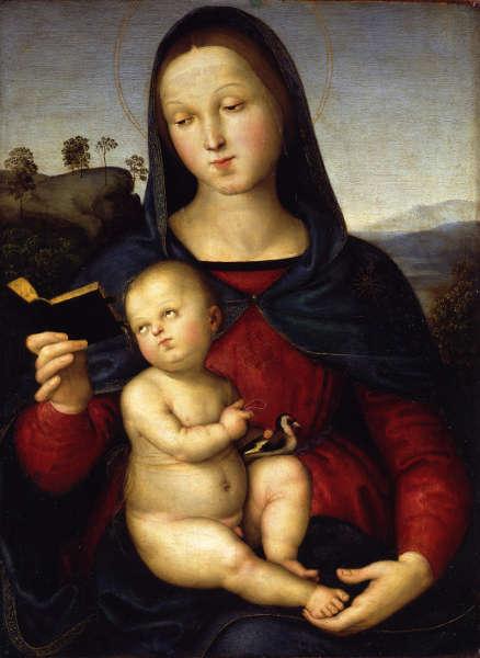 Raffael, Madonna mit dem Kind (Madonna Solly), um 1502, Öl auf Pappelholz, 54,3 x 40,6 cm (© Staatliche Museen zu Berlin, Gemäldegalerie / Jörg P. Anders)