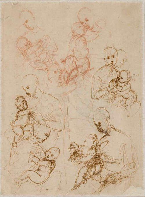 Raffael, Madonnenstudien, 1506/07 (© Albertina, Wien)