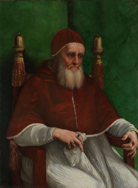 Raffael, Papst Julius II., vor März 1512, Öl auf Pappel, 108.7 x 81 cm (© The National Gallery, London)