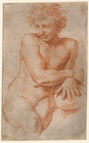 Raffael, Pluto, 1517/1518, Rötel über schwarzem Stift, weiß gehöht, gegriffelt, auf Papier (© Staatliche Museen zu Berlin, Kupferstichkabinett / Volker-H. Schneider)