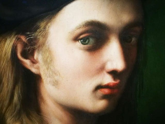 Raffael, Porträt des Bindo Altoviti, Detail, um 1514/15 (National Gallery of Art, Washington)