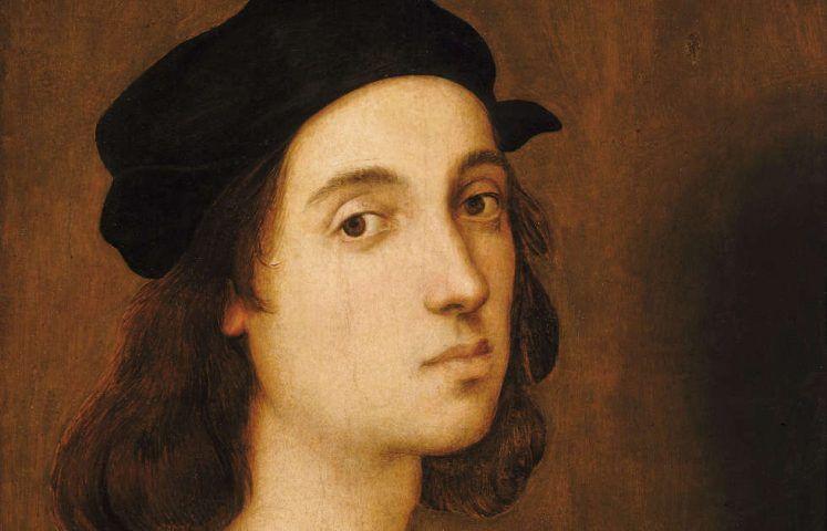 Raffael, Selbstporträt, Detail, um 1506, Öl-Holz, 47,5 x 33 cm (Uffizien, Florenz)