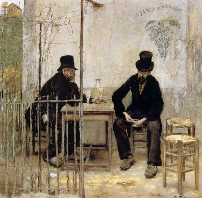Jean-Francois Raffaelli, Die Absinth-Trinker, 1881, Öl auf Leinwand, 110,2 x 110,2 cm (Privatsammlung)