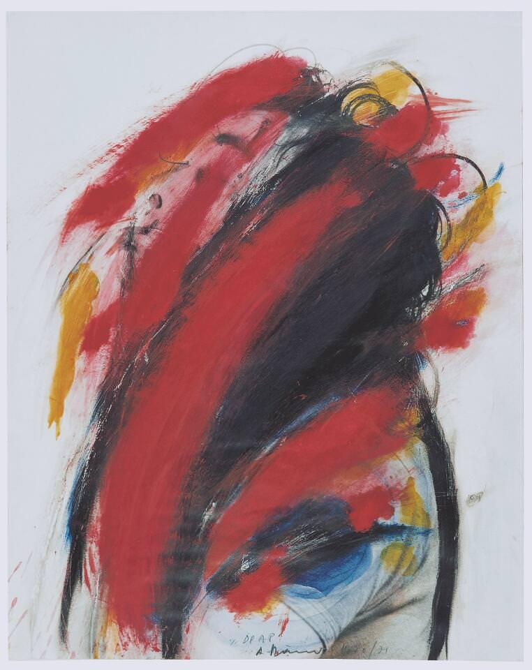 Arnulf Rainer, Drap (Selbstübermalung), 1970/1971, Öl und Mischtechnik auf Fotopapier, 50,5 x 40,4 cm (Sammlung Klewan, Arnulf Rainer © Atelier Arnulf Rainer, 2016)