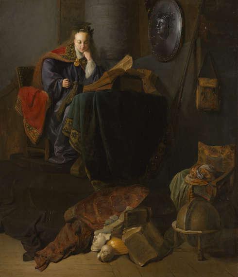 Rembrandt (Atelier), Minerva, um 1630 (Bequest of Abraham Bredius, 1946, Mauritshuis, Den Haag)