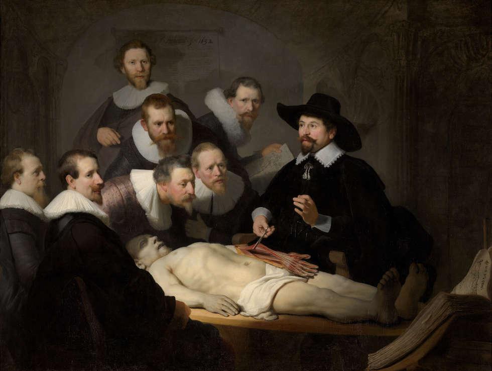 Rembrandt, Die Anatomiestunde von Dr. Nicolaes Tulp, 1632 (Mauritshuis, Den Haag)