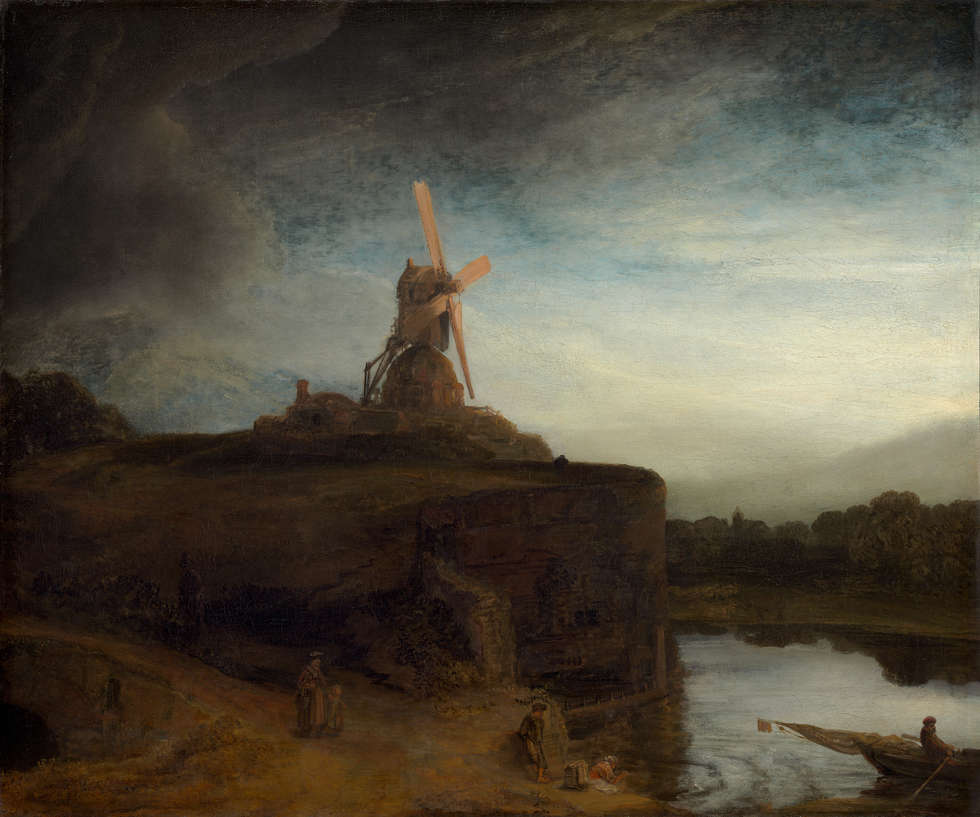 Rembrandt van Rijn, Die Mühle, 1645/1648, Öl/Lw, 87.6 x 105.6 cm (National Gallery of Art, Washington, USA, Widener Collection)