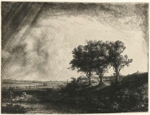 Rembrandt van Rijn, Die drei Bäume, 1643 (Rijksmuseum, Amsterdam)