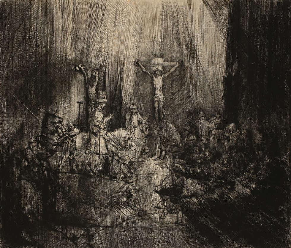 Rembrandt, Die drei Kreuze, um 1661, Radierung (Graphische Sammlung, Wallraf-Richartz-Museum, Foto: Dieter Bongartz)