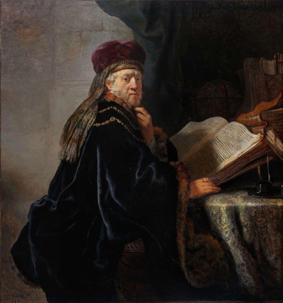 Rembrandt (Harmensz. van Rijn), Gelehrter im Studierzimmer, 1634, Öl/Lw (Nationalgalerie Prag, Foto: Museum)