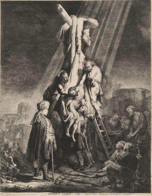 Rembrandt Harmensz. van Rijn, Kreuzabnahme, um 1632 (Hamburger Kunsthalle © bpk, Hamburger Kunsthalle, Foto: Christoph Irrgang)