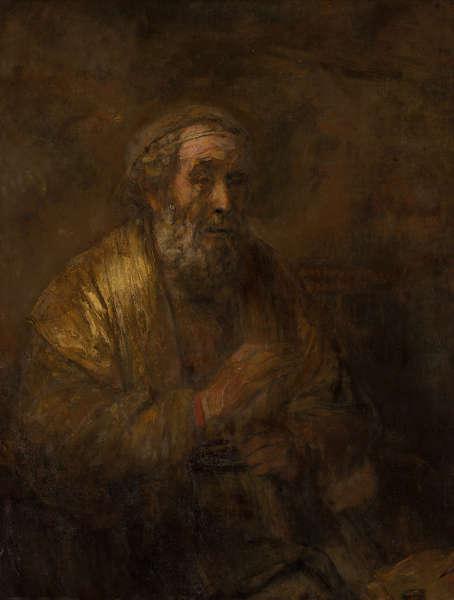 Rembrandt, Homer, 1663, Öl/Lw, 107 x 82 cm (Bequest of Abraham Bredius, 1946, Mauritshuis, Den Haag)