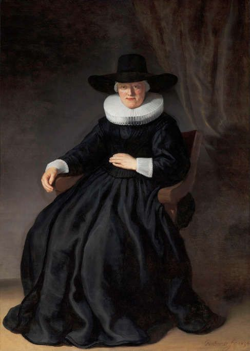 Rembrandt van Rijn, Maria Bockenolle (Ehefrau von Johannes Elison), 1634, Öl/Lw, 174.9 x 124.1 cm (Museum of Fine Arts, Boston, USA, William K. Richardson Fund)