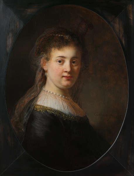 Rembrandt, Porträt einer jungen Frau (vielleicht Saskia), 1633, Öl/Lw, 65 x 48 cm (Rijksmuseum, Amsterdam)