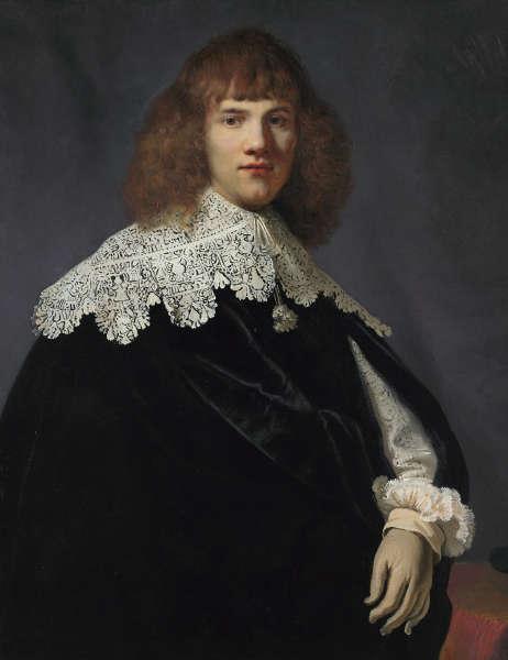 Rembrandt, Porträt eines jungen Edelmanns, um 1634, Öl/Lw, 94,5 x 73,5 cm (Jan Six Fine Arts, Amsterdam)
