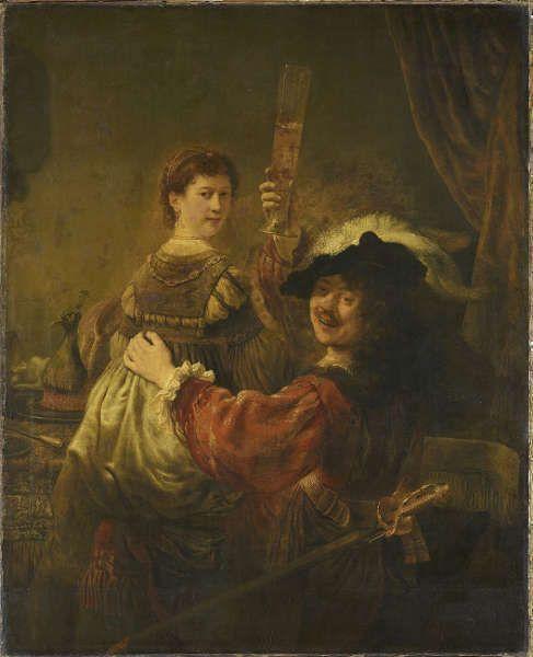 Rembrandt, Rembrandt und Saskia im Gleichnis vom verlorenen Sohn, um 1635 (Dresden)