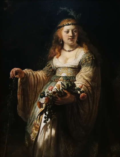 Rembrandt, Saskia als Flora, Öl/Lw, 1635 (The National Gallery, London), Foto: Alexandra Matzner, ARTinWORDS