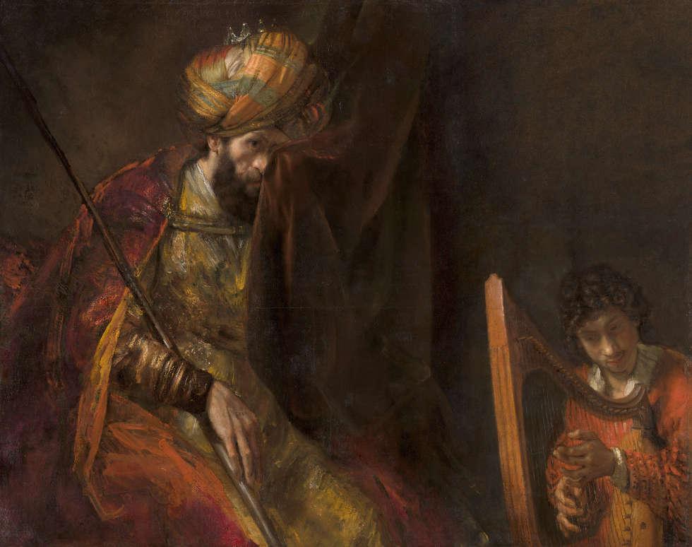 Rembrandt, Saul und David, um 1651–1654 und um 1655–1658, Öl/Lw, 130 x 164,5 cm (Bequest of Abraham Bredius, 1946, Mauritshuis, Den Haag)