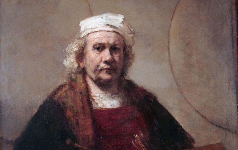 Rembrandt, Selbstbildnis mit zwei Kreisen, Detail, um 1665-9, Öl auf Leinwand, 114.3 x 94 cm, Kenwood House, The Iveagh Bequest, English Heritage, London 57 © English Heritage.