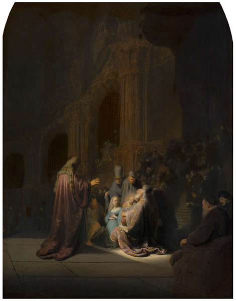 Rembrandt, Simeons Loblied, 1631, Öl/Holz, 60.9 x 47.9 cm (Mauritshuis, Den Haag)