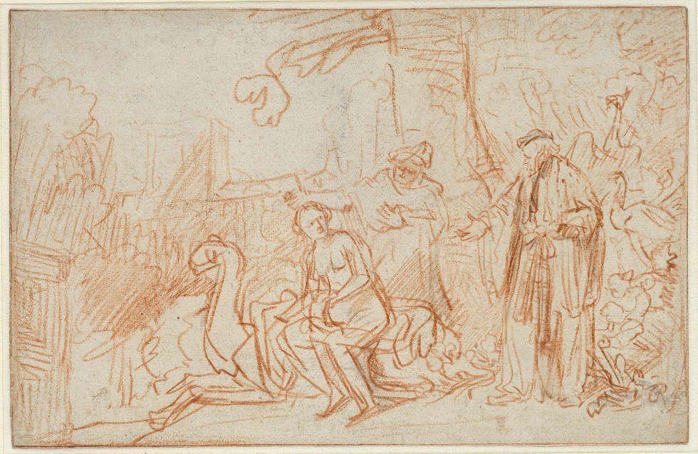 Rembrandt Harmensz. van Rijn, Susanna im Bade, um 1636, Rötel auf Papier (© Staatliche Museen zu Berlin, Kupferstichkabinett / Jörg P. Anders)