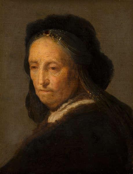 Rembrandt (nach), Studie einer alten Frau, nach/um 1631 (Bequest of Abraham Bredius, 1946, Mauritshuis, Den Haag)