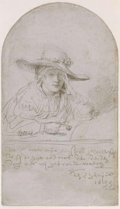 Rembrandt van Rijn, Bildnis Sakias als Braut, 1633, © Kupferstichkabinett, Staatliche Museen zu Berlin / bpk, Foto: Jörg P. Anders
