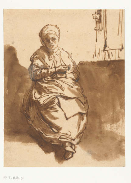 Rembrandt van Rijn, Junge Frau (Saskia?) sitzend in einem Raum, um 1638 (Rijksmueum, Amsterdam, Schenking van de heer C. Hofstede de Groot, Den Haag)