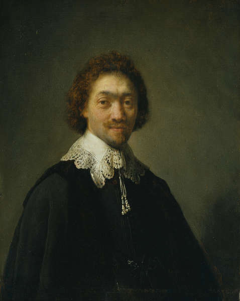 Rembrandt van Rijn, Maurits Huygens, Sekretär des Staatsrats in Den Haag, 1632, Öl auf Eichenholz, 31,1 x 24,5 cm (© Hamburger Kunsthalle / bpk, Foto: Elke Walford)