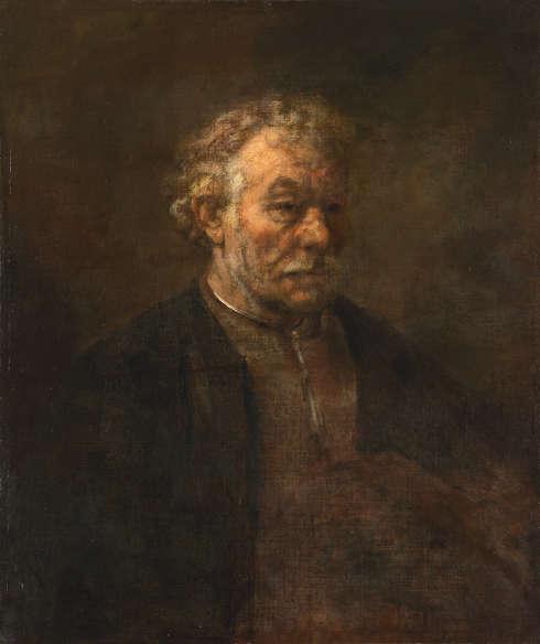 Rembrandt (zg.), Studie eines alten Mannes, 1650 (Mauritshuis, Den Haag)