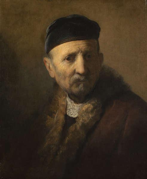 Rembrandt (zg.), Tronie eines alten Mannes, um 1630/31 (Bequest of Abraham Bredius, 1946, Mauritshuis, Den Haag)