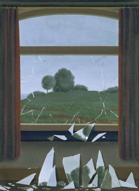René Magritte, La Clef des champs, 1936, Öl/Lw, 80 x 60 cm (Museo Nacional Thyssen-Bornemisza, Madrid, Inv. no. 657 (1976.3)