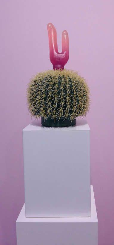 """Renate Bertlmann, Kaktus, Detail, 1999, in der Sektion """"Sex Work"""" © Künstler und Galerie, Foto: Eva Pakisch"""